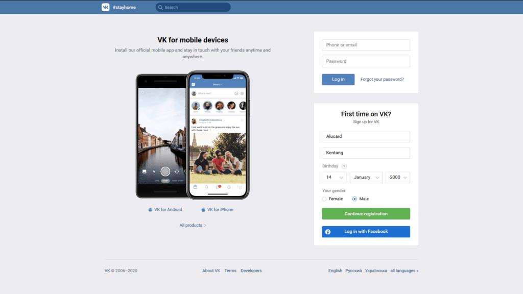 cara daftar akun vk mobile legends tanpa aplikasi