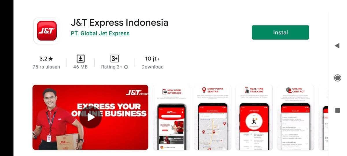 Download Aplikasi J&T Express Indonesia