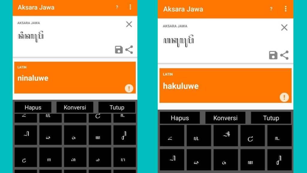 Translate Aksara Jawa ke Latin dengan Aplikasi