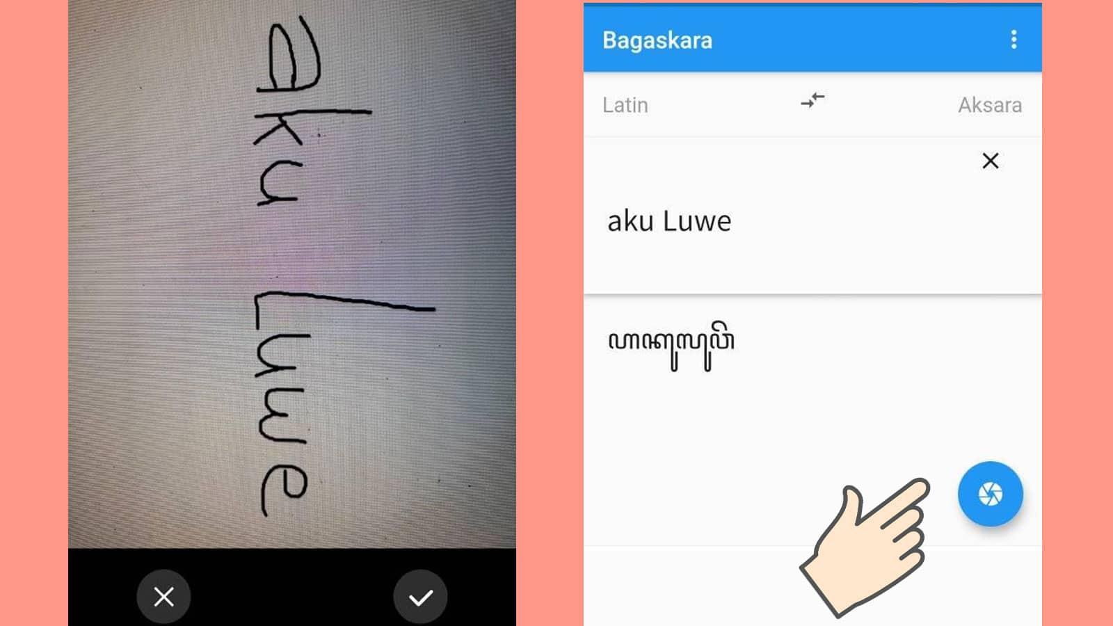Translate Aksara Jawa ke Latin dengan Foto
