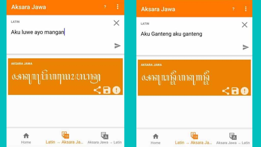 Translate Latin ke Aksara Jawa dengan Aplikasi