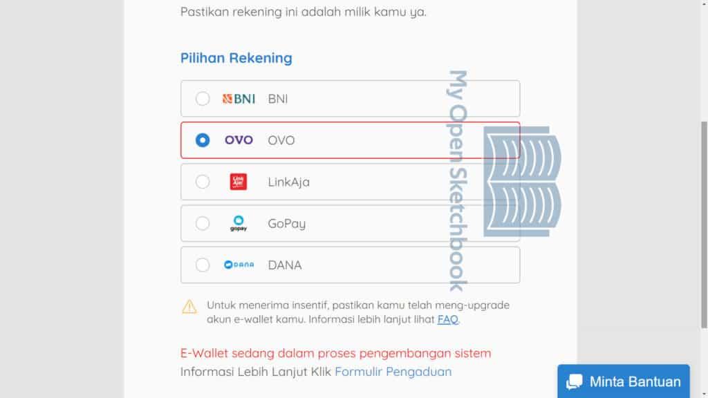 Arti E-Wallet Sedang Dalam Proses Pengembangan Sistem Prakerja OVO